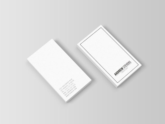 Minimal Professional Business Card Template PSD INSTANT