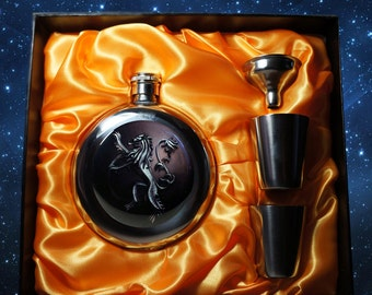Personalized Stainless Steel Pocket  Flask Game of Thrones Gift