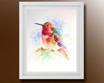 Original  Bird Painting, Original Watercolor, Color Bird