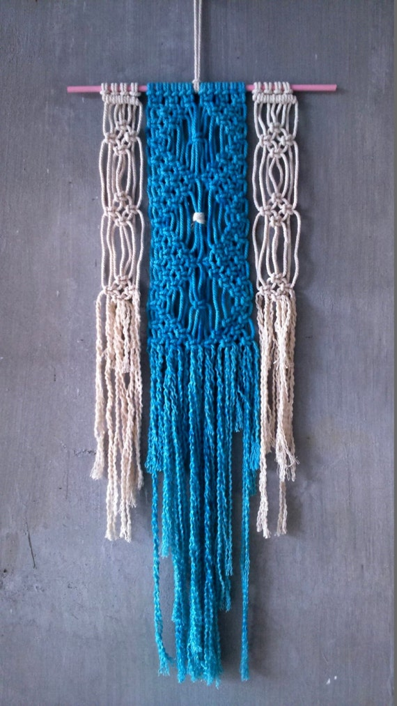 colorful modern wall hanging macrame by 23palominoboutique