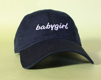 NEW babygirl Baseball Hat Dad Hat Low Profile White Pink Black Casquette Embroidered Unisex Adjustable Strap Back Baseball Cap