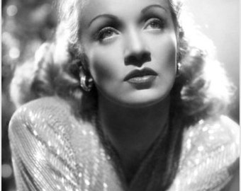 Marlene Dietrich Portrait Poster Glamorous Luminous Rare Beauty 24x36