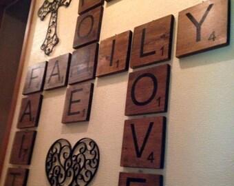6x6 Wooden Lettered Tiles