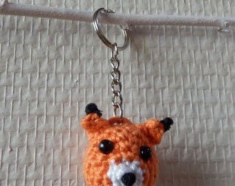 Fox amigurumi crochet - Kitsune - keychain