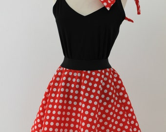 Minnie Mouse Skirt & Headband