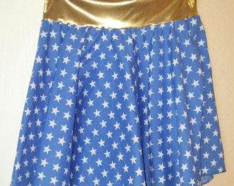 Junior's or Girl's Wonder Woman Copslay Circle Skirt