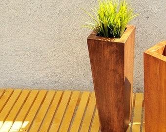 Square vase (cm 14x40) IRIS