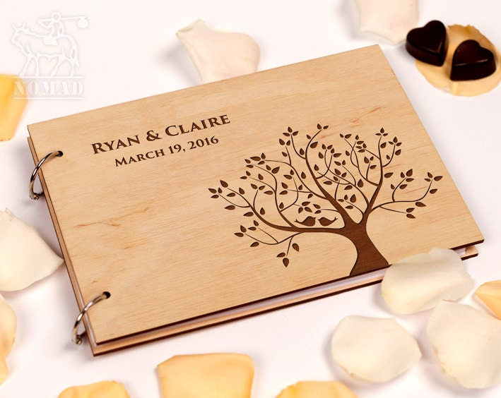 Personalised Wedding Gifts For Guests: Rustic Wedding Guest Book Custom Guest Book By GuestBookShop
