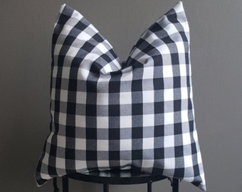 Black & White Checkered Decorative Pillow