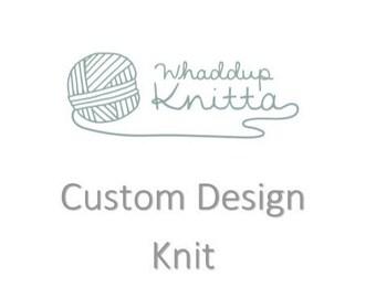 Custom Design Knit Beanie - 100% Wool