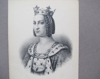 Charlotte of Savoy postcard / Charlotte de Savoie queen of France / French Etching postcard / ND Phot