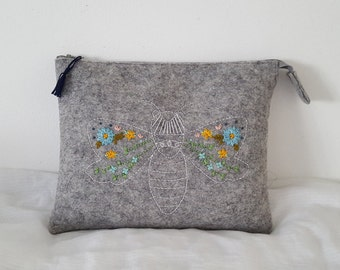 Felt Clutch Bag , Pencil Case , Cosmetic Bag
