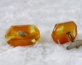 Vintage Natural Baltic Amber Cufflinks 825 sterling silver Cuff Links Vintage jewellry Mens attire Mens gift for father