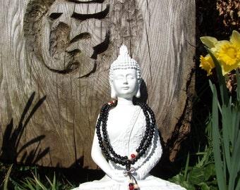Sandalwood 108 Bead Mala Buddhist Prayer Beads 6mm with Dorje