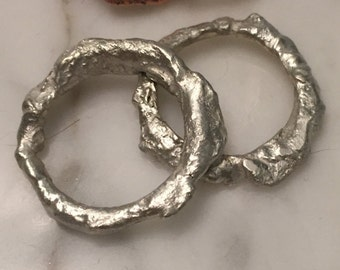 Bone Ring, Molten Ring, Twig Rings, Branch Rings, Melted Rings, Melted Jewelry