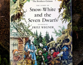 The Brothers Grimm ~ The Story of Snow White and the Seven Dwarfs Illustrated by Fritz Werner. 1st Edition The Bodley Head 1973. HB with DJ