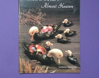 """Tole Painting Book, Elaine Thompson #1 """"Lessons of Almost Heaven"""""""