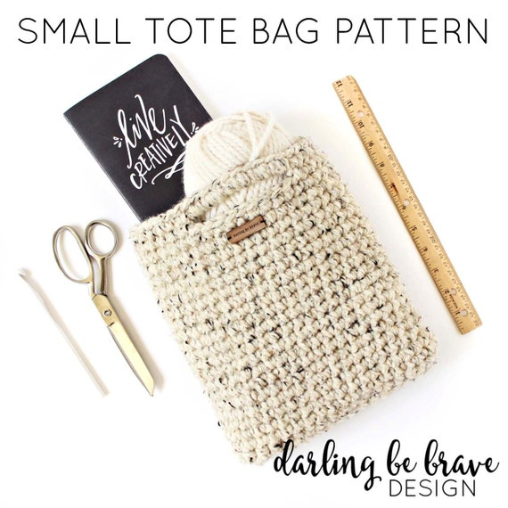 Crochet Small Tote Bag Pattern : small tote bag PATTERN crochet bag chunky by ...
