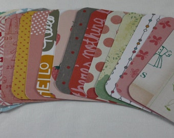 Girly Themed Handmade 3x4 Pocket Page Journal Cards Journaling Cards Scrapbooking Cards Pack of 18