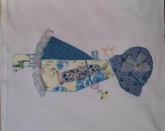 Girl patchwork cushion