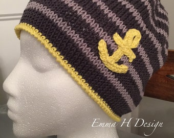 Bonnet woman to the marine look revisited (grey/yellow)