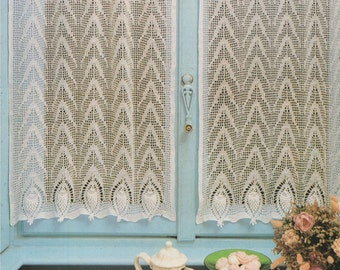 Curtains and Table Cloth PDF Crochet Pattern : Nets . Net Curtain . Doilies . Table Mat Doily . Runner . Instant Digital Download