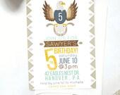 Bald Eagle Birthday Invitation, Printable DIY Invitation, Kids Eagle Party Invitation