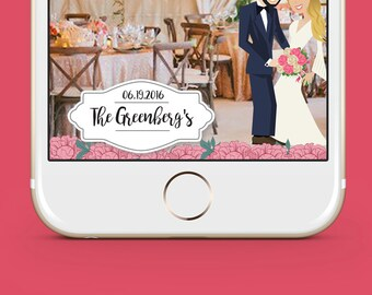 Full Body Cartoon Snapchat Wedding Geofilter Custom Filter. No Submission to Snapchat