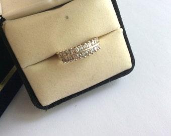 14k diamond ring pave of diamonds # 873
