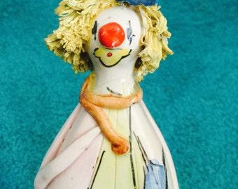 A Hand Signed Zampiva Original Glazed Ceramic Clown