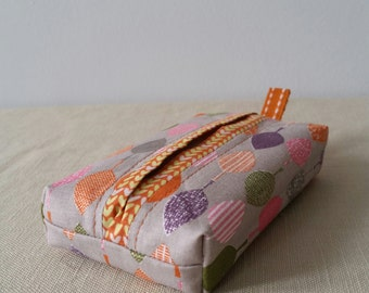 Handbag tissue holder - Autumn leaf design