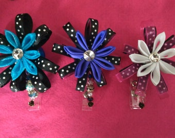 Fabulous Handmade Flower Retractable Badge Holders