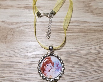 10 Princess Belle Necklaces Party Favors.