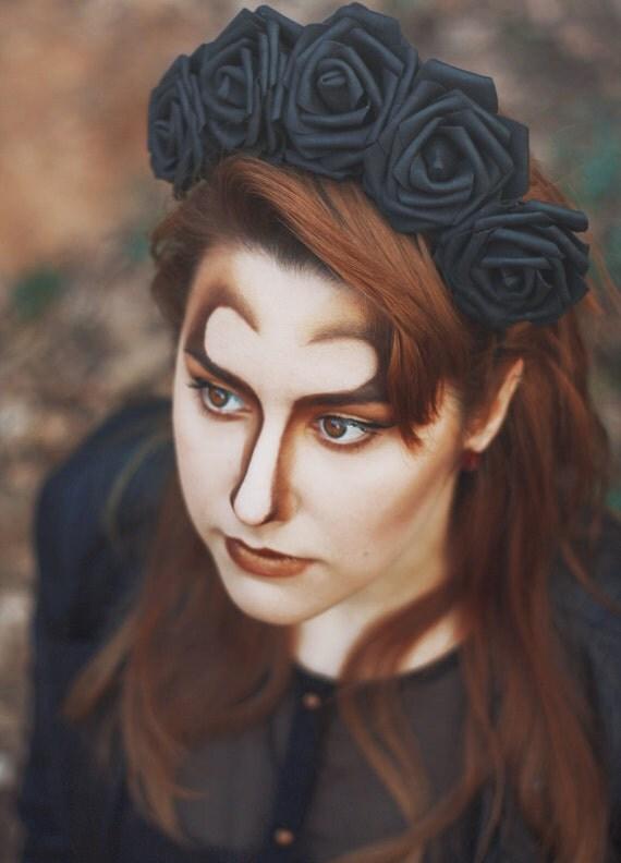 LILITH - Black Rose Flower Crown