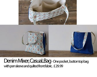 Denim mixer, casual bag
