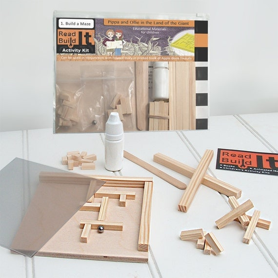 Wooden Maze - Craft Educational Activity Kit -  Design and Build (Linked to Story book) ReadITBuildIT - Kids - Childrens - Kits
