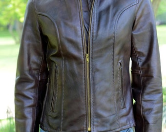 Vintage Authentic Brown Leather Jacket