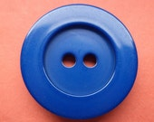 5 KNÖPFE blau 26mm 21mm (5321 5320) Knopf Mantelknöpfe Jackenknöpfe