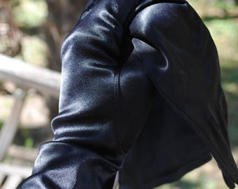 Pair of  black gloves 1960s