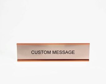 Customize Your Own - Desk Plate Engraving with 3 Color Options