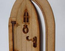 Opening Fairy Door Craft Kit! 3D Fully Opening Fairy Door kit for Fairy Gardens, Skirting Boards, Log Houses etc