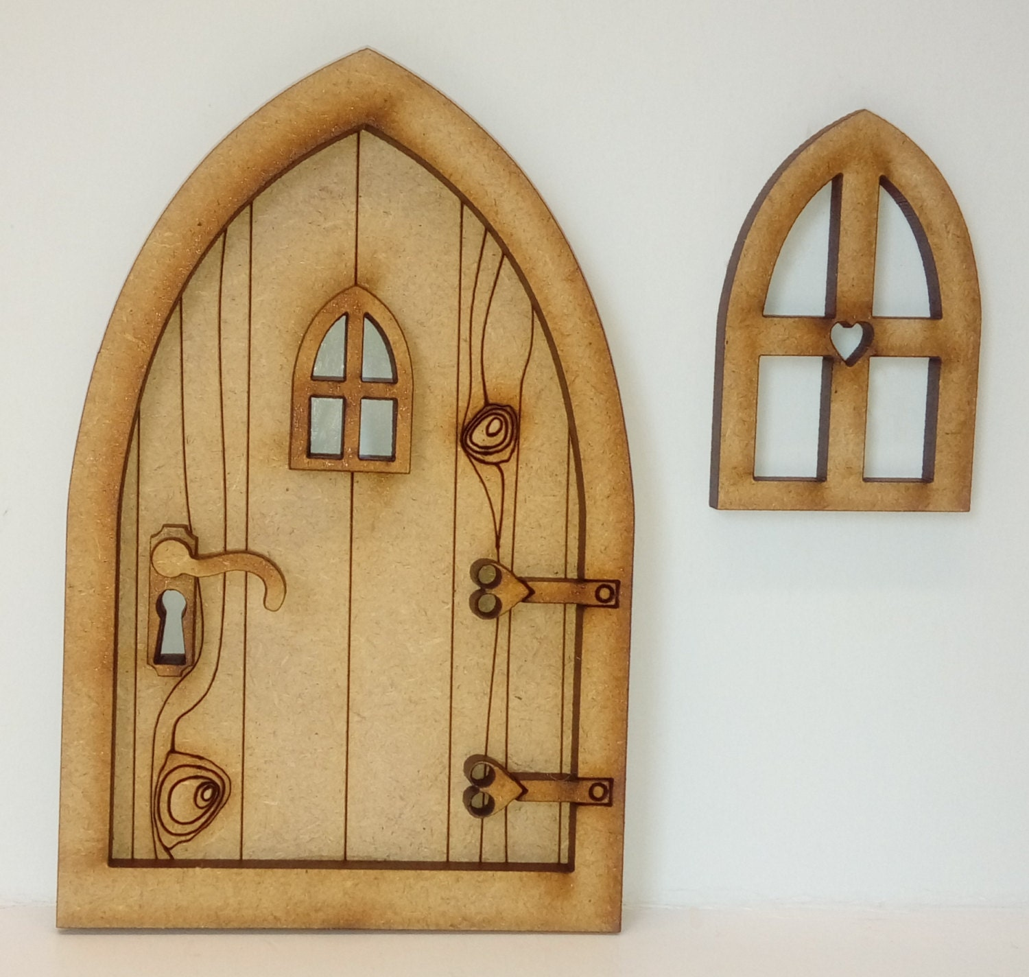 Fairy door craft kit 3d country cottage fairy door kit with for Fairy house doors