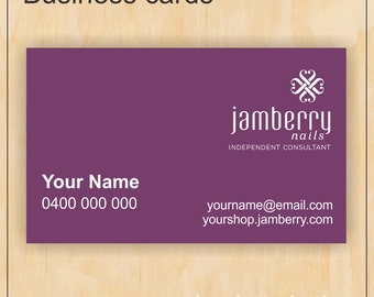 Business Cards for Jamberry Nails - Digital PDF file