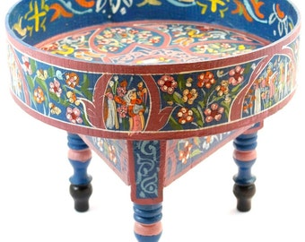 Small dark blue painted coffee table