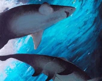 Sea Surge -- Original Acrylic Painting