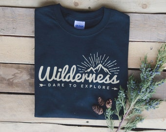 Black Explore Wilderness T-Shirt