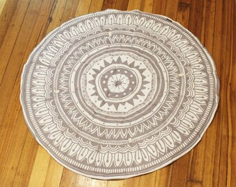Grey Mandala Playmat