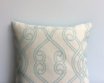Handmade, One of a Kind, Turquoise Throw Pillow