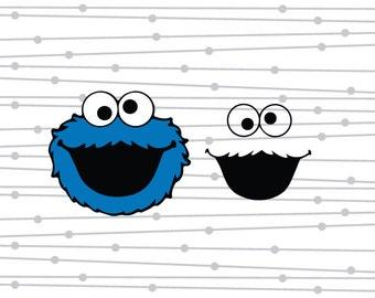 Cookie Monster SVG, Cookie Monster, Sesame Street SVG, SVG, dxg, Digital Cut File, Studio, Cricut