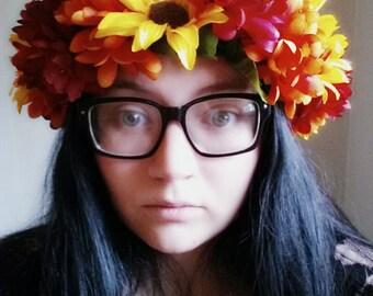 Autumn Flowers Flower Crown